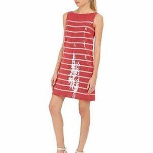 Kate Spade sleeveless sequin striped sheath dress
